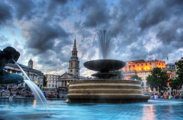 Fountain in Trafalgar Squre